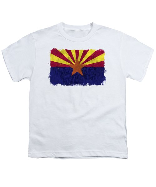 Arizona Flag Youth T-Shirt by World Art Prints And Designs