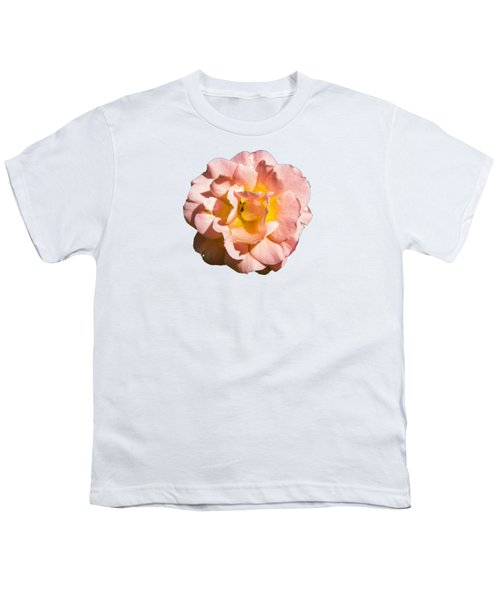 Peach Rose Youth T-Shirt by Brian Manfra