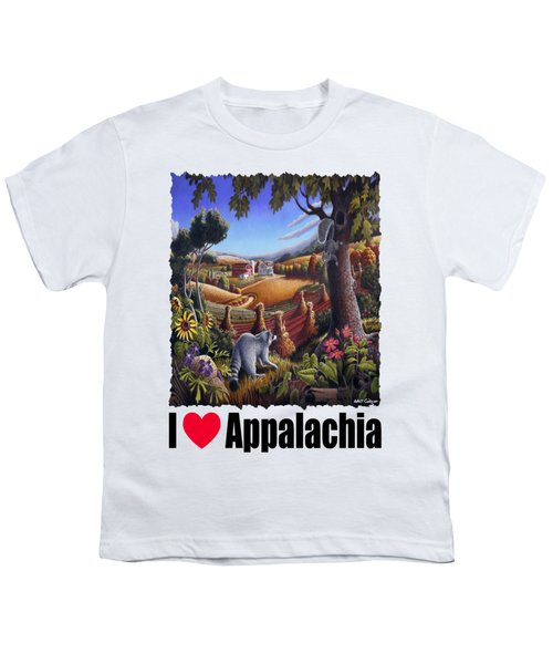 I Love Appalachia - Coon Gap Holler Country Farm Landscape 1 Youth T-Shirt