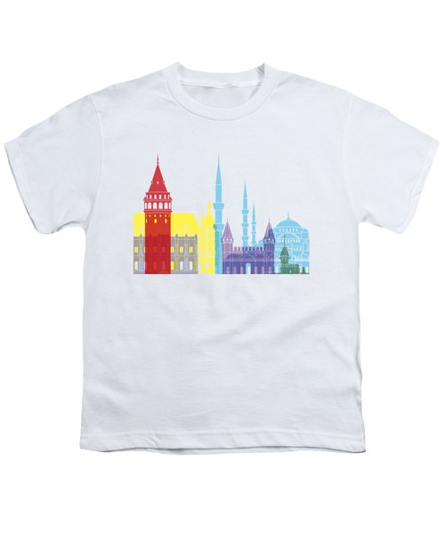 Istanbul Skyline Pop Youth T-Shirt by Pablo Romero