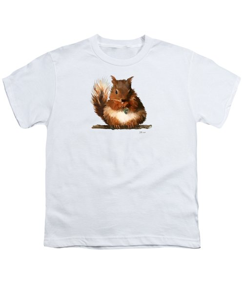 Young Squirrel Youth T-Shirt by Bamalam  Photography