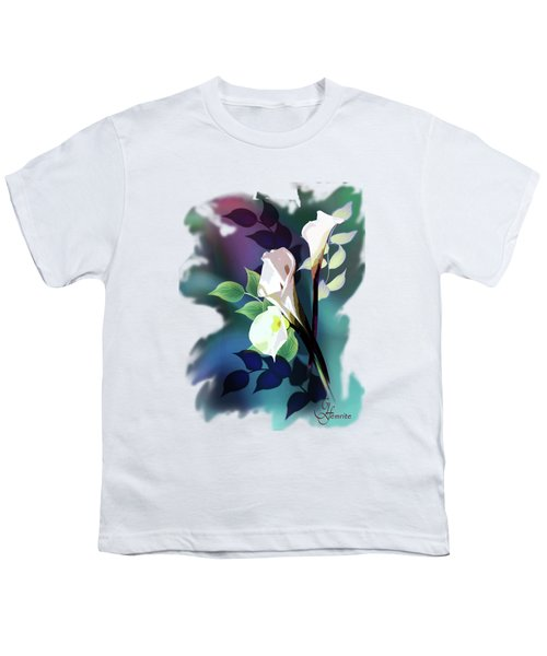 Bouquet In White Youth T-Shirt