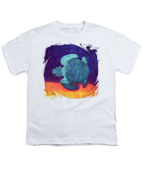 Sea Surfing Youth T-Shirt by Di Designs