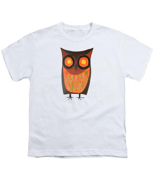 Give A Hoot Orange Owl Youth T-Shirt
