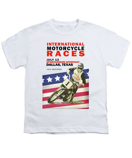 International Motorcycle Races Dallas Youth T-Shirt