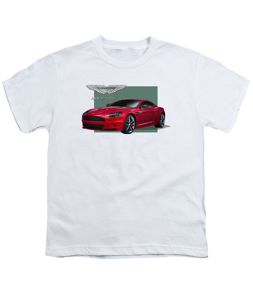 Aston Martin  D B S  V 12  With 3 D Badge  Youth T-Shirt