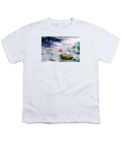 Youth T-Shirt featuring the photograph At Claude Monet's Water Garden 12 by Dubi Roman