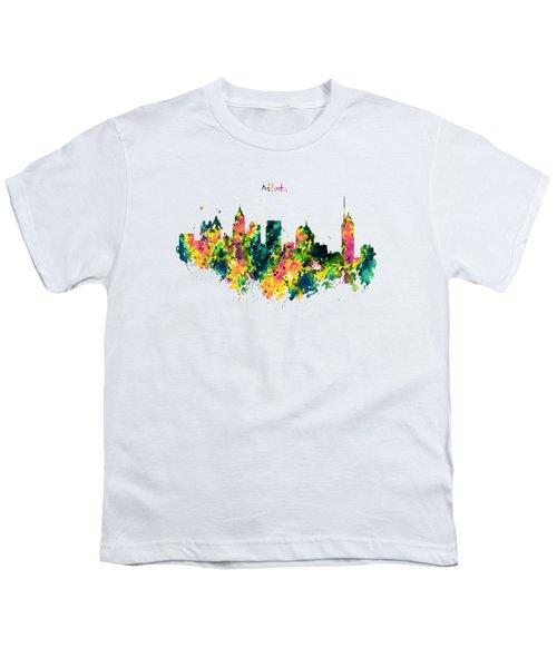Atlanta Watercolor Skyline  Youth T-Shirt