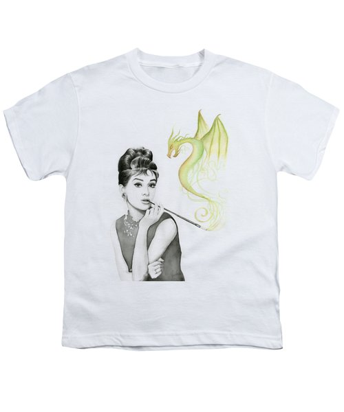 Audrey And Her Magic Dragon Youth T-Shirt