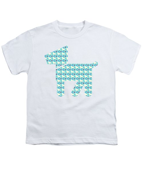 Aussie Dog Pattern Youth T-Shirt