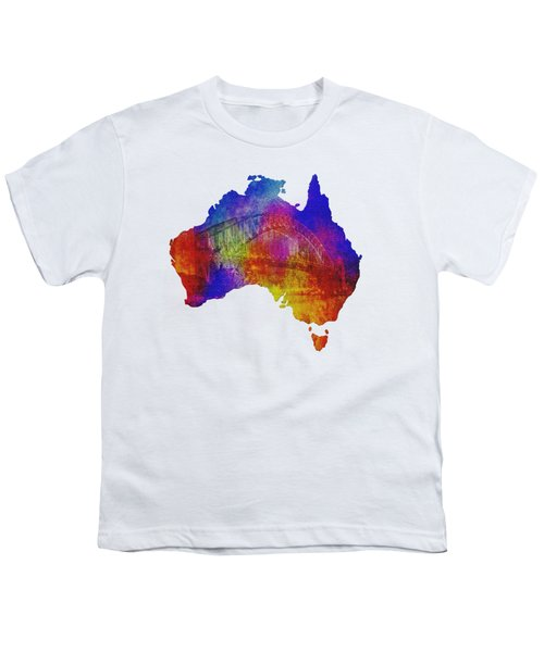Australia And Sydney Harbour Bridge By Kaye Menner Youth T-Shirt
