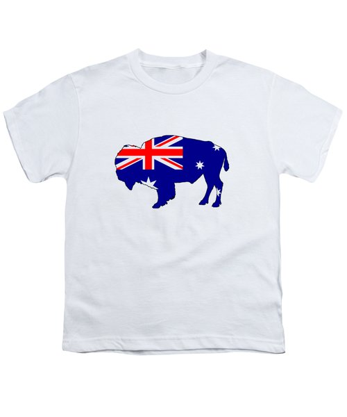Australian Flag - Bison Youth T-Shirt by Mordax Furittus