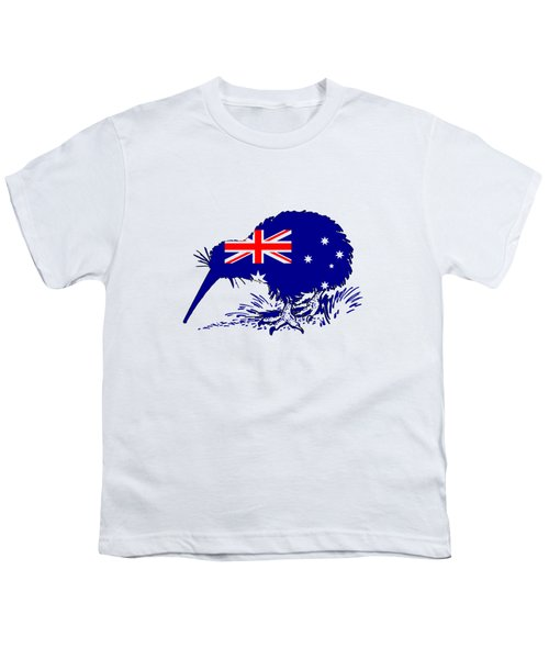 Australian Flag - Kiwi Bird Youth T-Shirt by Mordax Furittus
