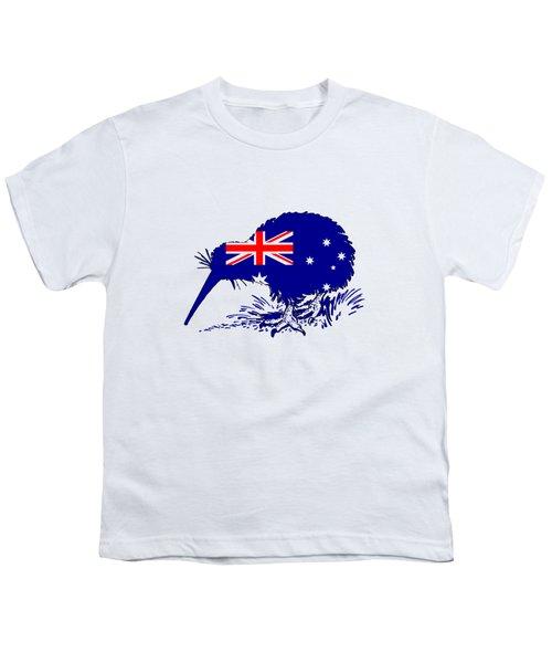 Australian Flag - Kiwi Bird Youth T-Shirt by Mordax Furittus