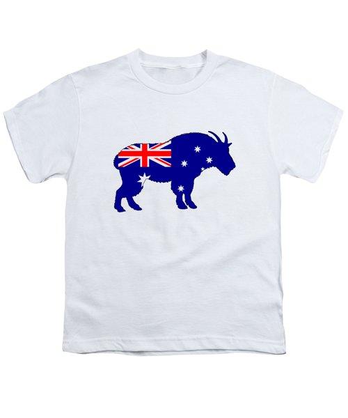 Australian Flag - Mountain Goat Youth T-Shirt by Mordax Furittus