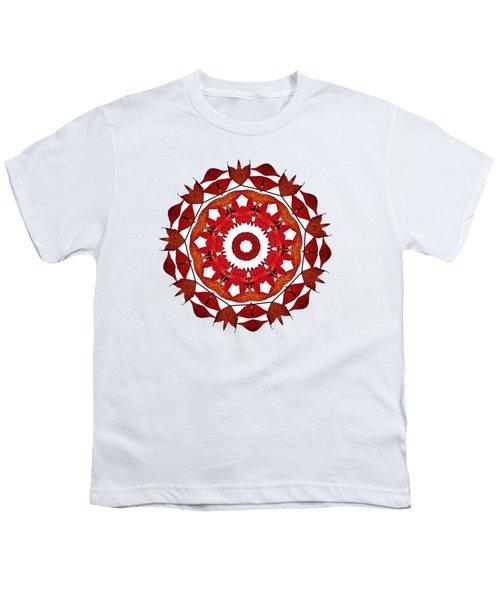 Autumn Leaves Mandala By Kaye Menner Youth T-Shirt by Kaye Menner