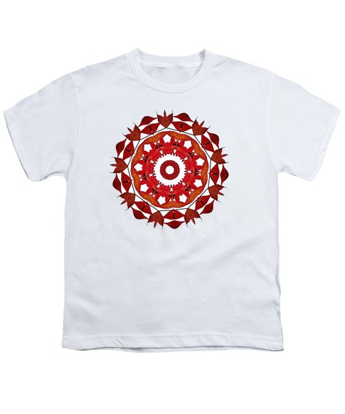 Autumn Leaves Mandala By Kaye Menner Youth T-Shirt