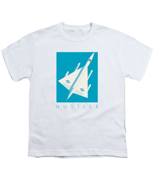 B-58 Hustler Supersonic Jet Bomber - Blue Youth T-Shirt