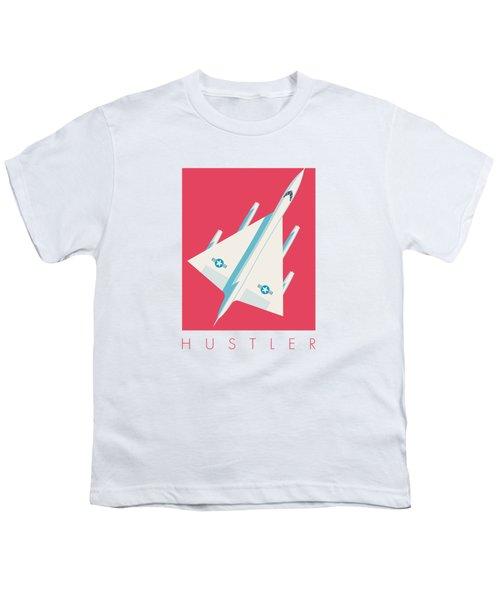 B-58 Hustler Supersonic Jet Bomber - Crimson Youth T-Shirt