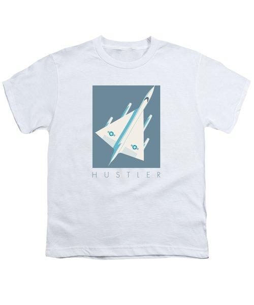 B-58 Hustler Supersonic Jet Bomber - Slate Youth T-Shirt