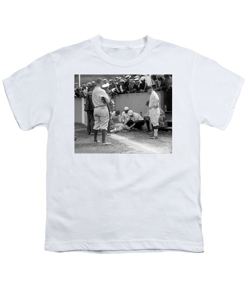 Babe Ruth Knocked Out By A Wild Pitch Youth T-Shirt