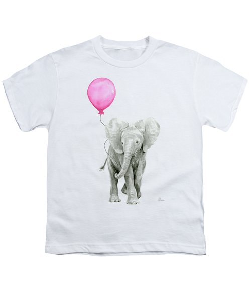 Baby Elephant Watercolor  Youth T-Shirt