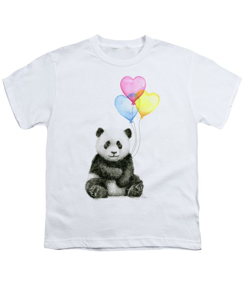 Baby Panda With Heart-shaped Balloons Youth T-Shirt