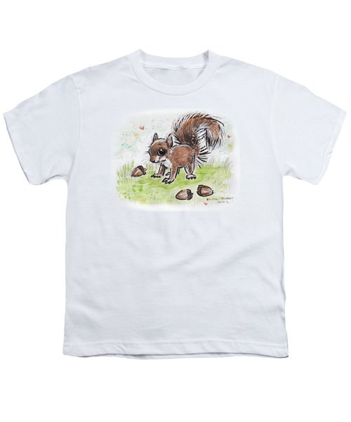 Baby Squirrel Youth T-Shirt by Maria Bolton-Joubert