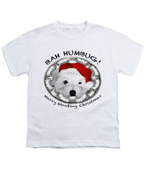 Bah Humbug Merry Woofing Christmas Youth T-Shirt