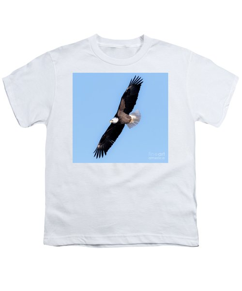 Bald Eagle Overhead  Youth T-Shirt by Ricky L Jones