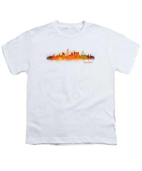 Barcelona City Skyline Hq _v3 Youth T-Shirt