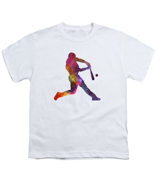 Baseball Player Hitting A Ball Youth T-Shirt