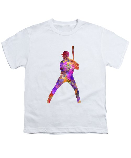 Baseball Player Waiting For A Ball Youth T-Shirt