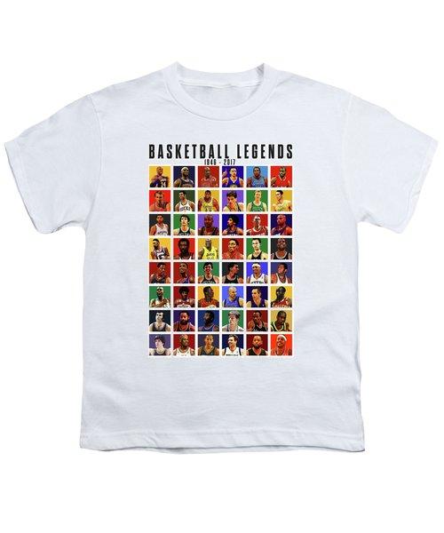 Basketball Legends Youth T-Shirt by Semih Yurdabak