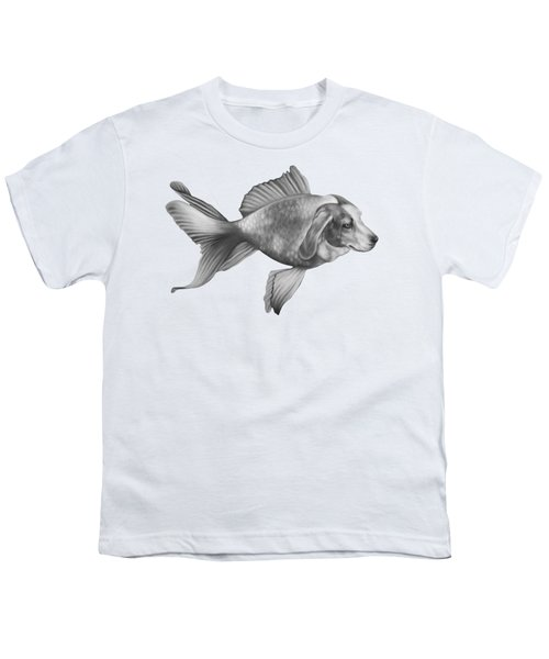 Beaglefish Youth T-Shirt by Courtney Kenny Porto