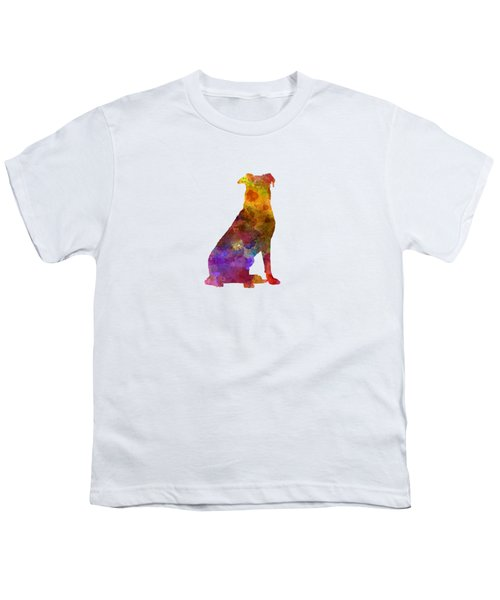 Beauceron In Watercolor Youth T-Shirt by Pablo Romero