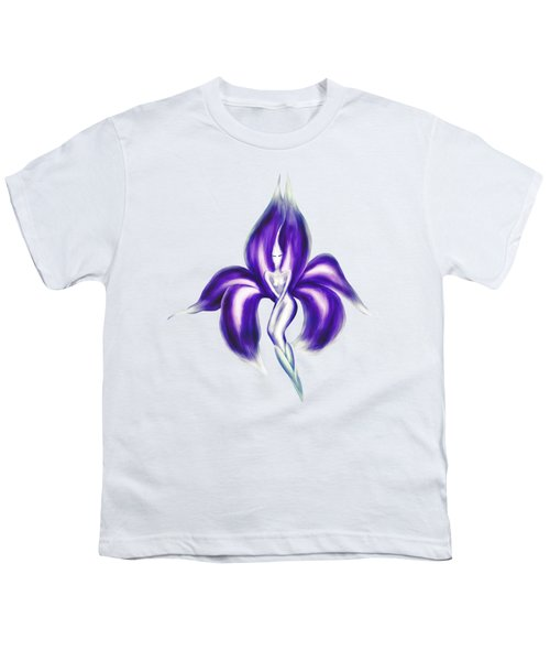 Beautiful Dancing Lady Flower Artistic Illustration Art Photo Print Youth T-Shirt by Awen Fine Art Prints