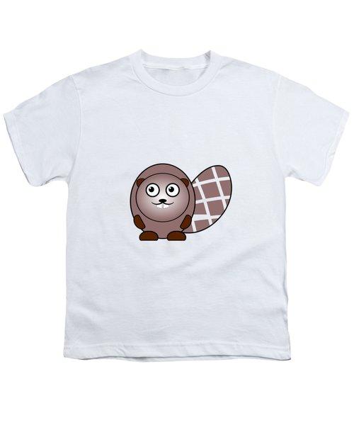 Beaver - Animals - Art For Kids Youth T-Shirt by Anastasiya Malakhova