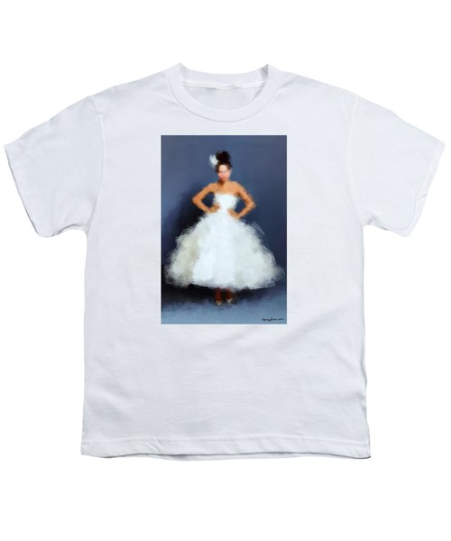 Youth T-Shirt featuring the digital art Becky by Nancy Levan