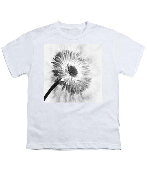 Bellis In Mono  #flower #flowers Youth T-Shirt by John Edwards