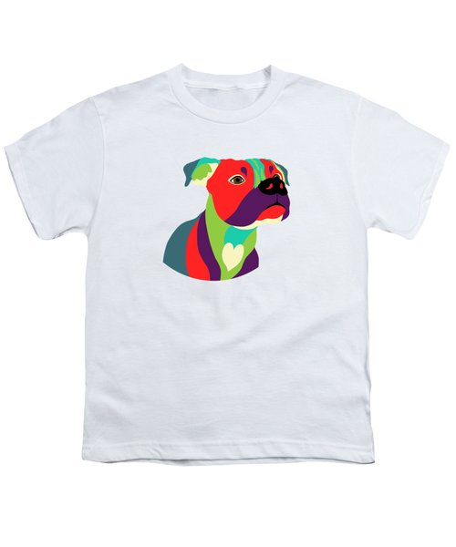 Bennie The Boxer Dog - Wpap Youth T-Shirt by SharaLee Art