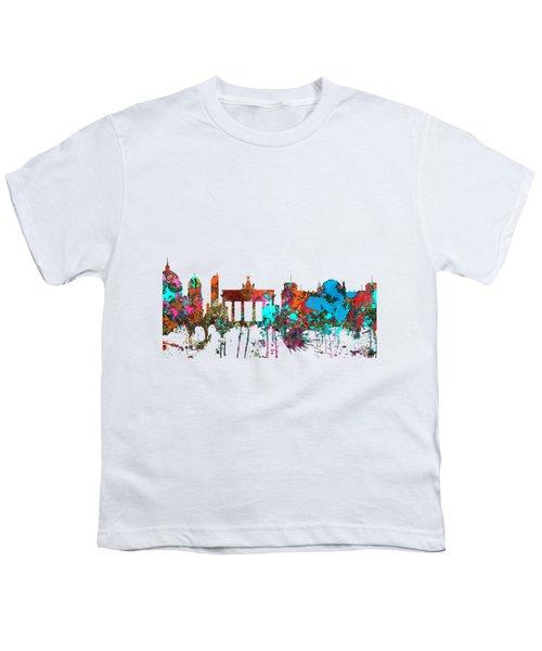 Berlin Germany Skyline  Youth T-Shirt by Marlene Watson