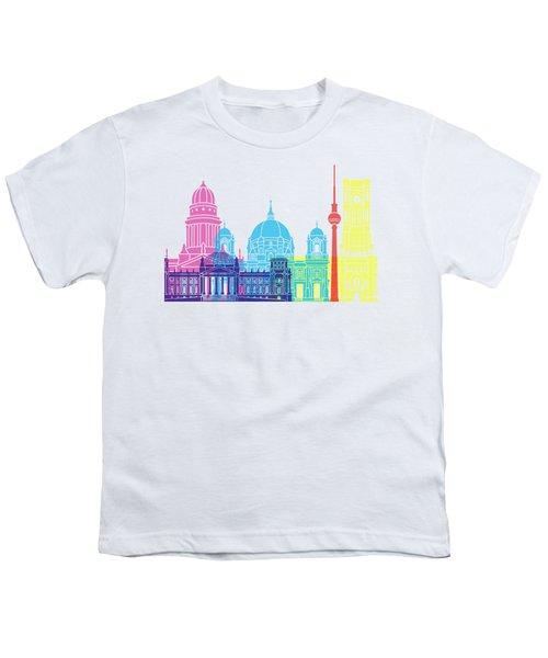 Berlin V2 Skyline Pop Youth T-Shirt by Pablo Romero