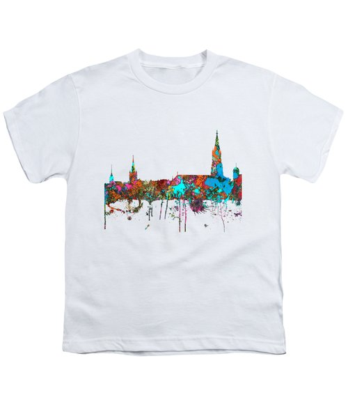 Berne Switzerland Skyline Youth T-Shirt by Marlene Watson