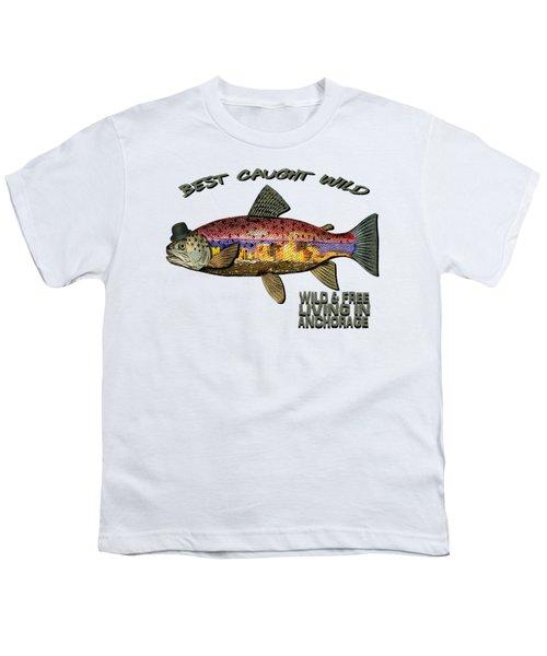 Fishing - Best Caught Wild On Light Youth T-Shirt