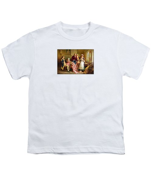 Betsy Ross And General George Washington Youth T-Shirt