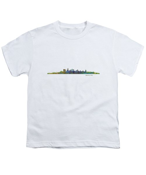 Beverly Hills City In La City Skyline Hq V1 Youth T-Shirt by HQ Photo