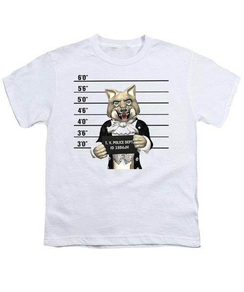 Big Bad Wolf Mugshot Youth T-Shirt by Methune Hively