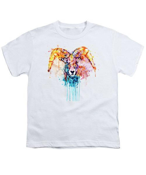 Bighorn Sheep Portrait Youth T-Shirt