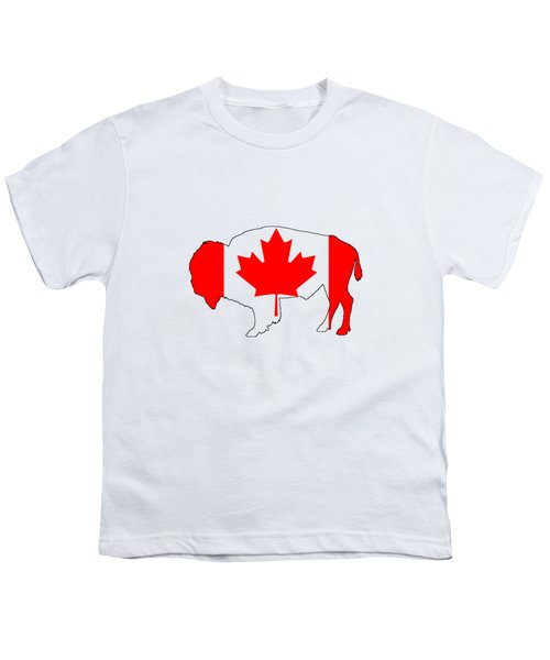 Bison Canada Youth T-Shirt by Mordax Furittus